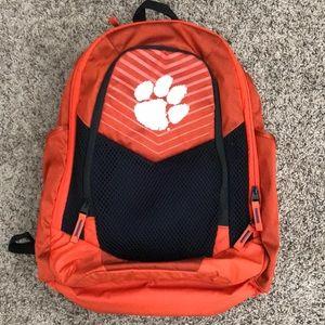 Orange Clemson backpack